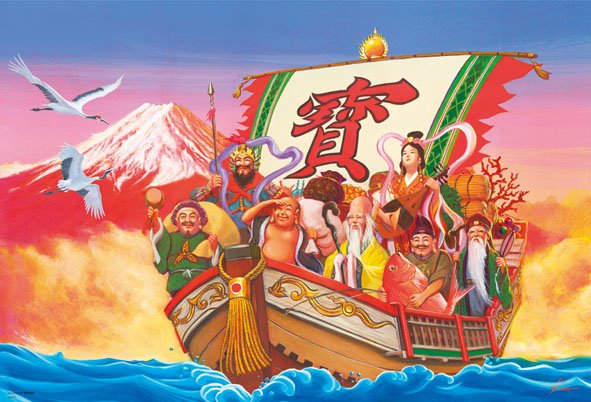7 японских богов счастья и их имена | Число 7 в японской культуре